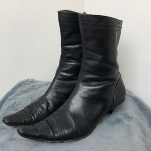 ALDO • Black Low Pointed Toe Booties • Size 38/8